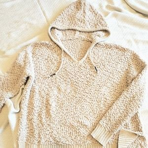 Knitted hoodie sweater